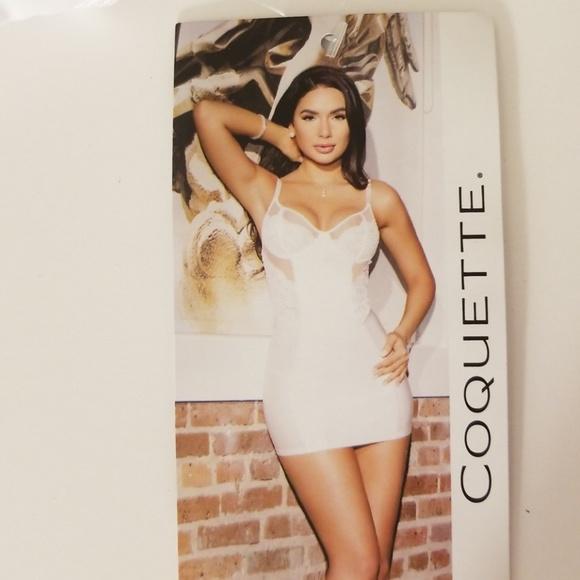 967f7606f4a6 Coquette Intimates & Sleepwear | L White Sheer Bridal Chemise Sexy ...